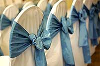 Chair cover rental and chair sash rental
