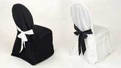 Wedding chair cover, formal chair cover